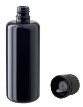 Violet Glass Bottle with Reducer Cap, 100 ml.