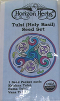 Collection of Tulsi Seeds, 3 Varieties
